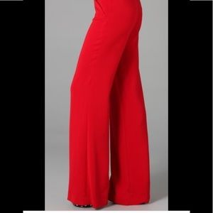 Wide leg red pants